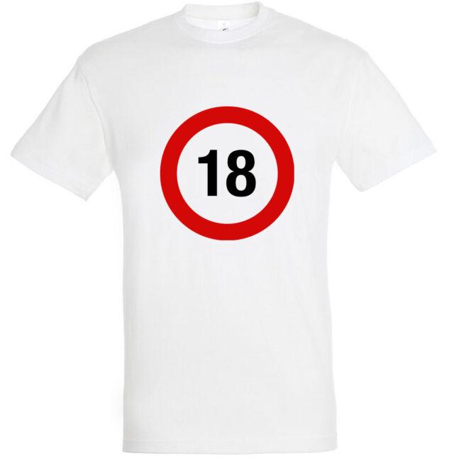 Sebességkorlátozó 18. születésnapi póló fehér