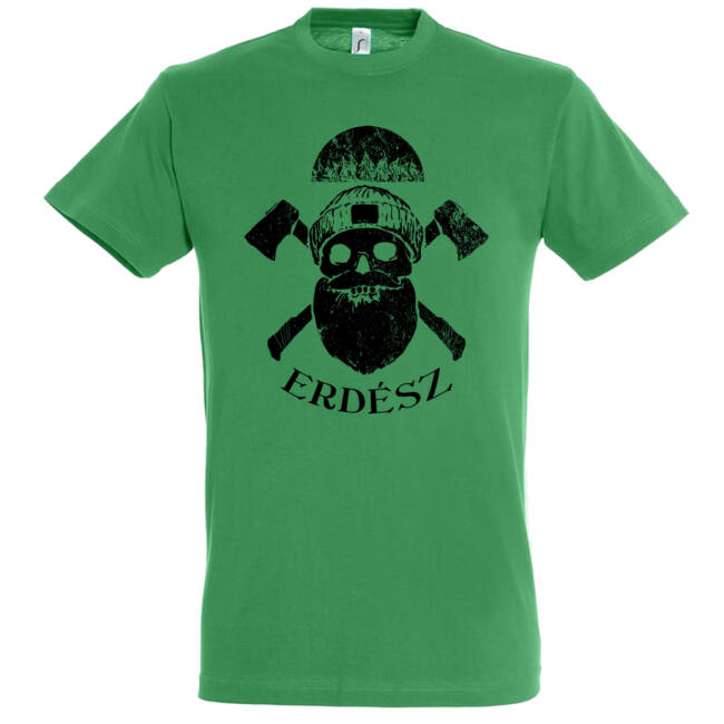 Kemény erdész póló kelly green