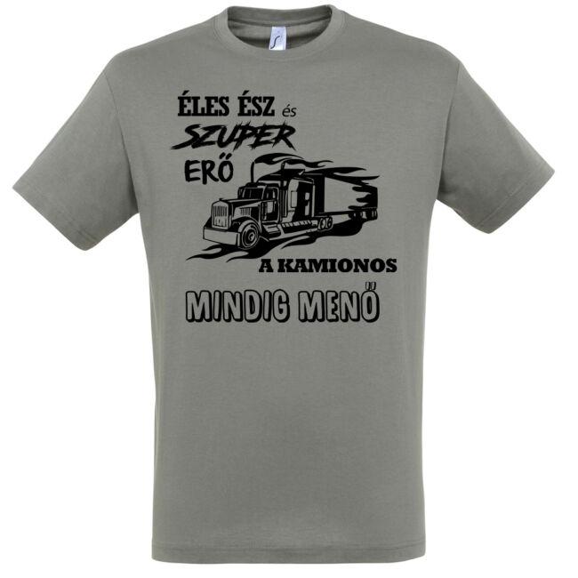 A kamionos mindig menő póló zinc színben