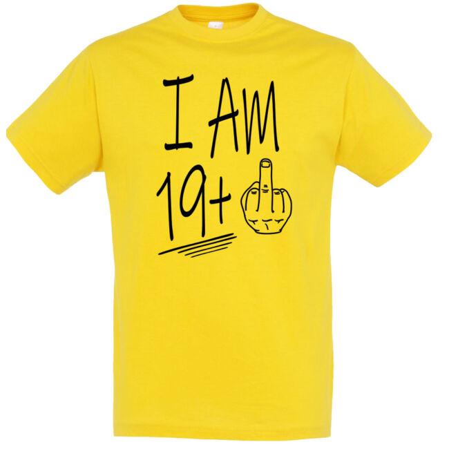 I am 19+1 póló 20. születésnapra, több színben