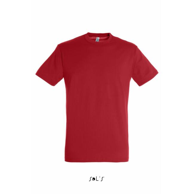 Sol's Regent Unisex környakas póló piros