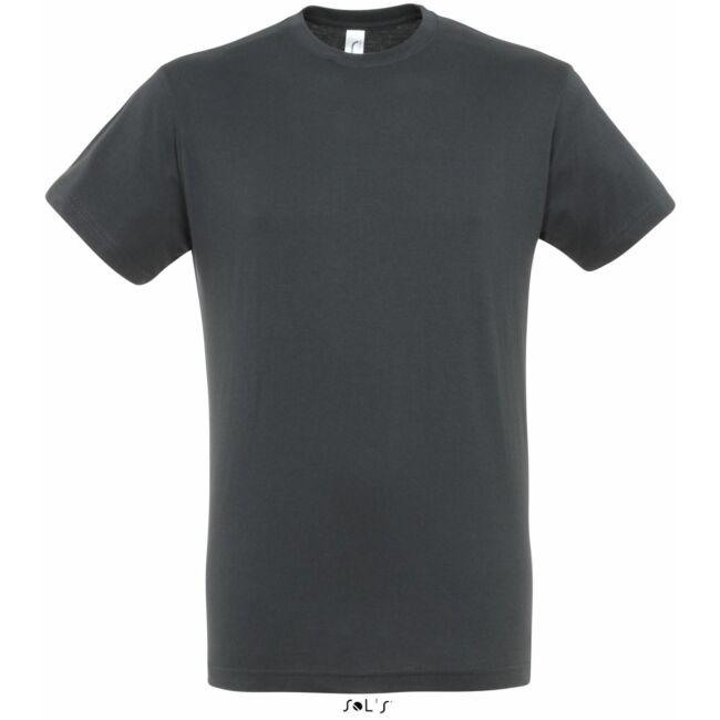 Sol's Regent Unisex környakas póló mouse grey sötétszürke