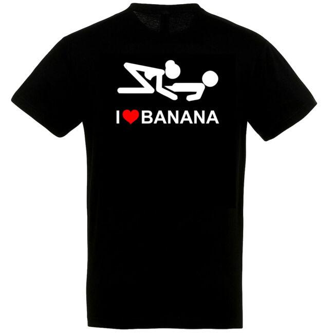 I Love Banana póló több színben
