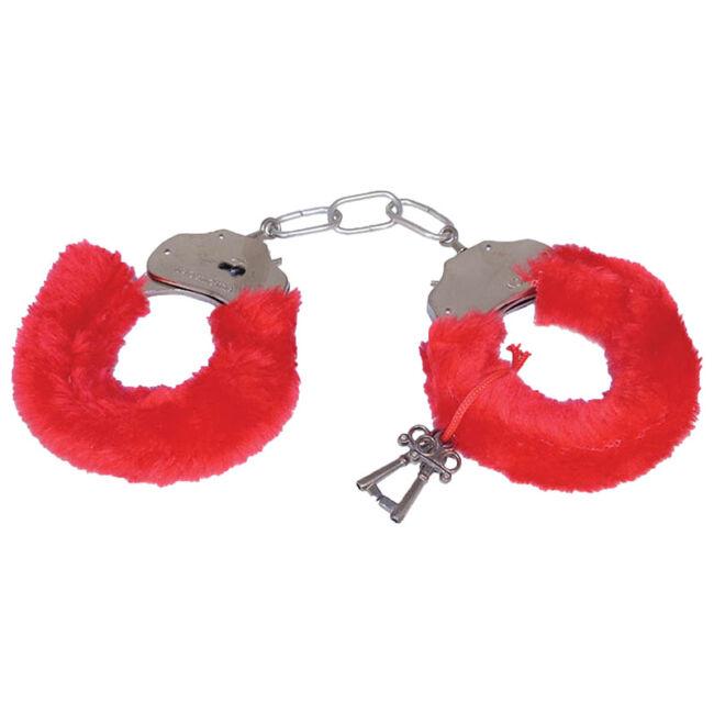 Fém bilincs 5cm lánccal piros színben