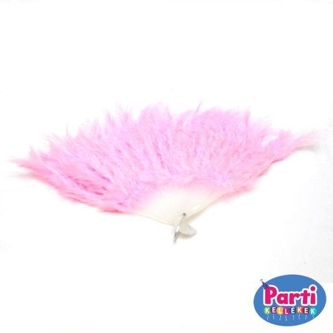 Tollas legyező pink