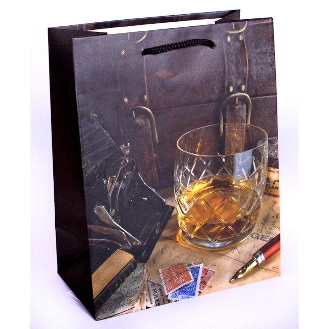 Whisky pohárban ajándéktasak 23*18cm