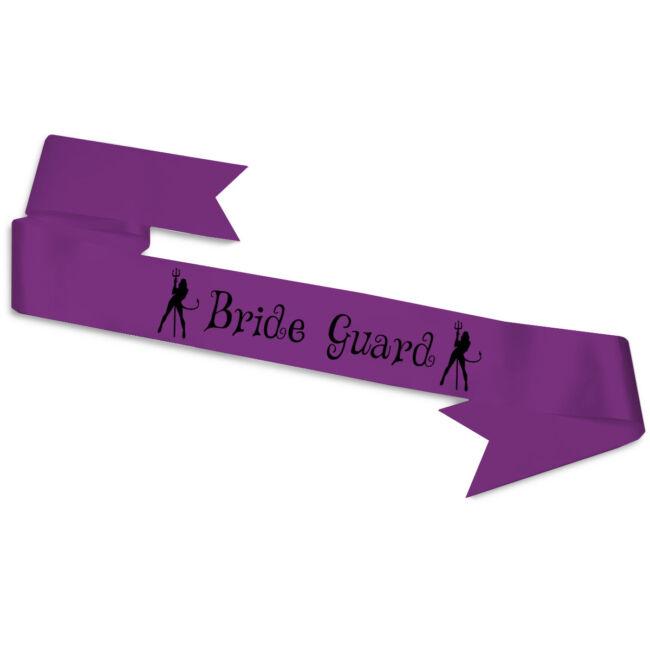 Bride Guard ördögök vállszalag lila