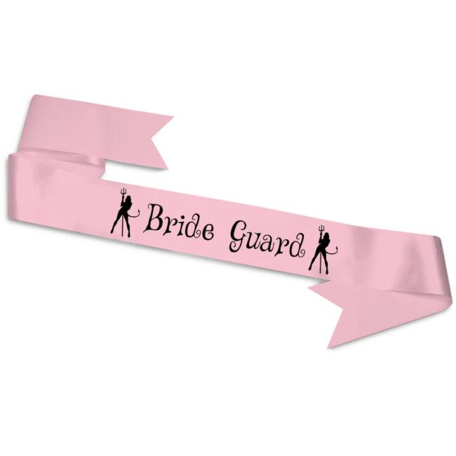Bride Guard ördögök vállszalag rózsaszín