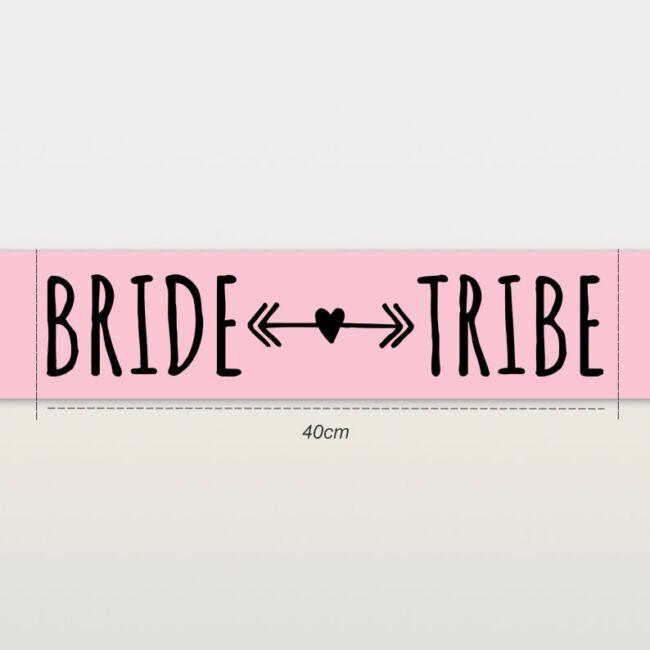 Bride Tribe vállszalag rózsaszín