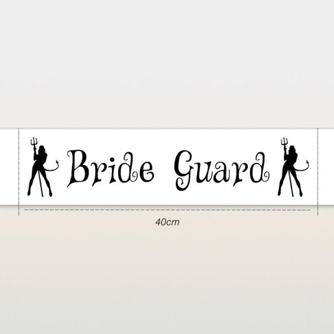 Bride Guard ördögök vállszalag fehér