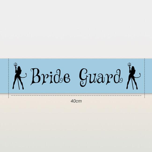 Bride Guard ördögök vállszalag kék