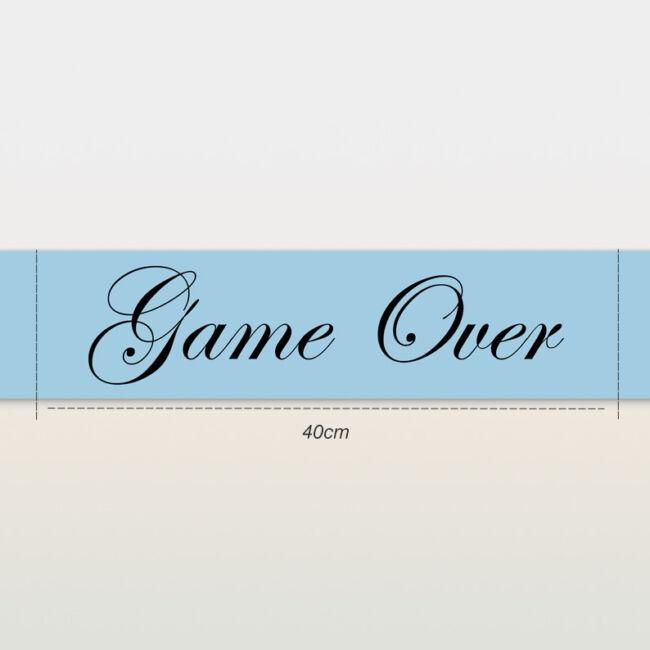 Game Over vállszalag kék színben lánybúcsúra