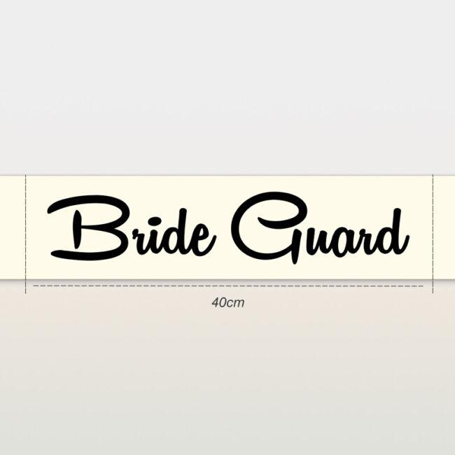 Bride Guard vállszalag ekrü
