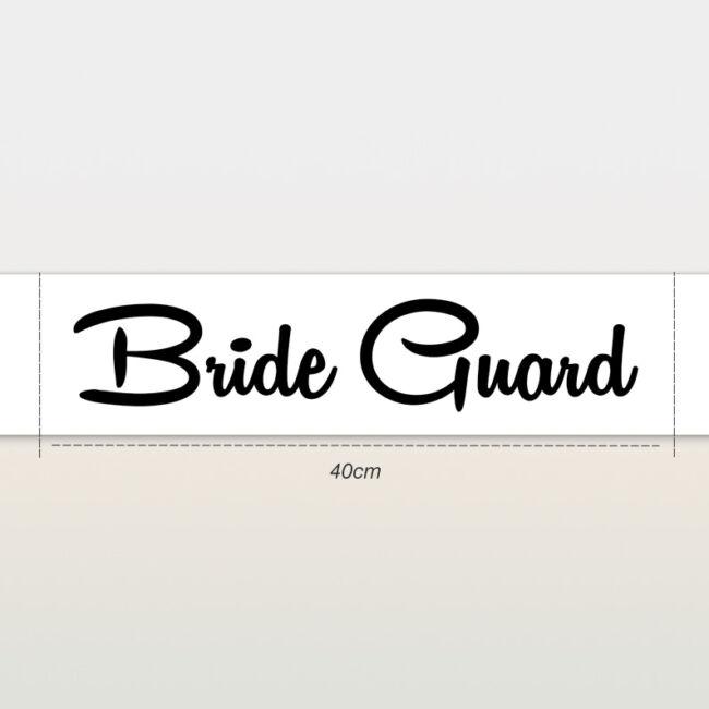 Bride Guard vállszalag fehér színben lánybúcsúra