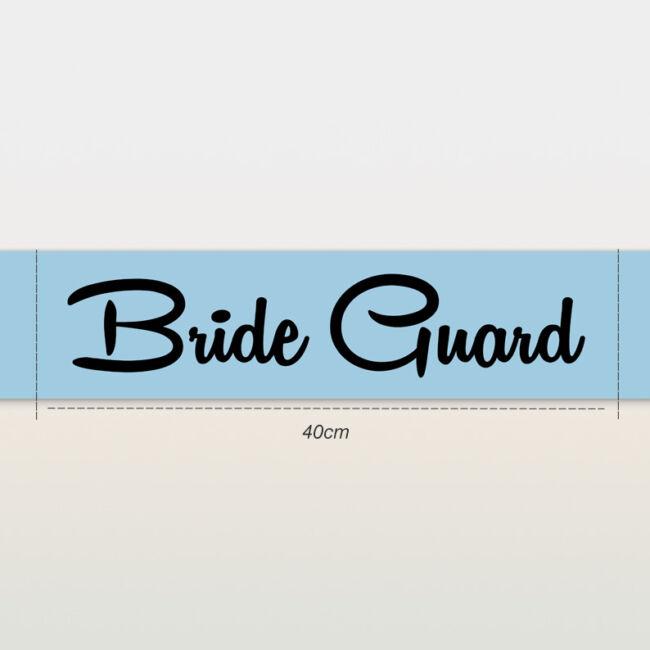 Bride Guard vállszalag kék színben lánybúcsúra