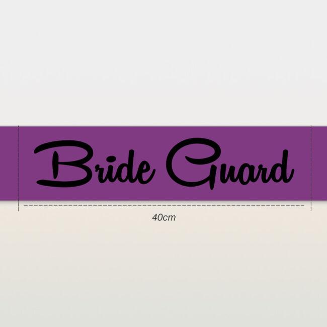 Bride Guard vállszalag lila színben lánybúcsúra