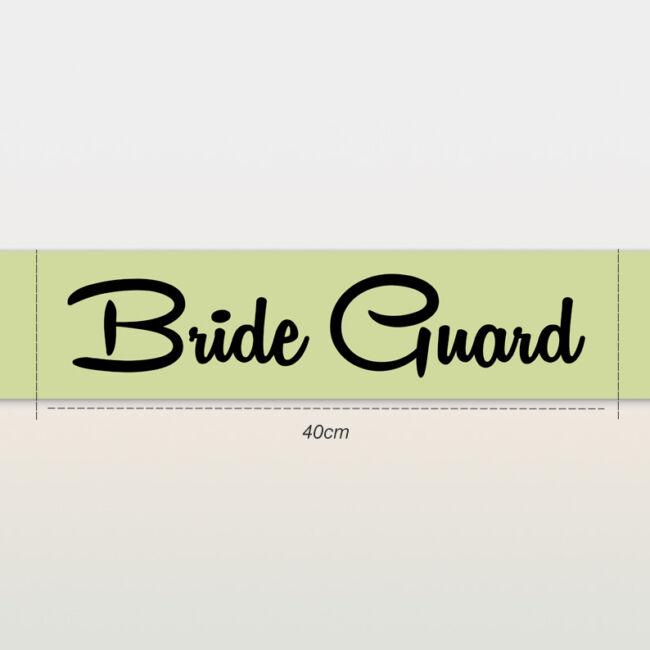 Bride Guard vállszalag zöld színben lánybúcsúra