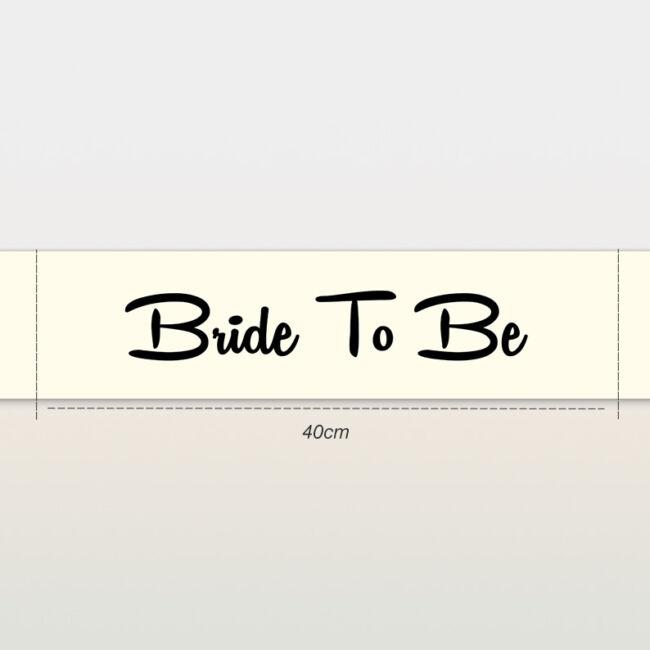 Bride To Be vállszalag ekrü