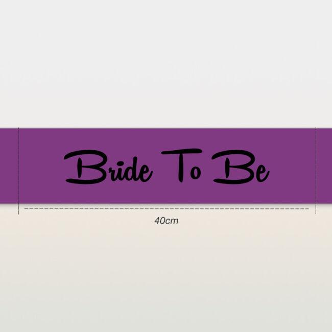 Bride To Be vállszalag lila lánybúcsúra